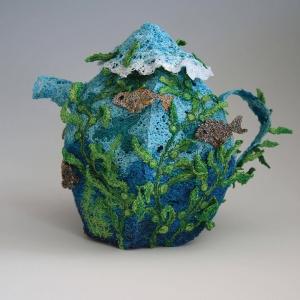 Eileen Doughty_Teapot_Fiber Sculpture