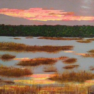 Hannock, Terry_The Sky is on Fire_Acrylic