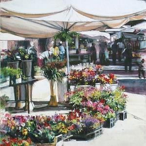 "Joyce Nagel ""Buonconvento Flower Market"""