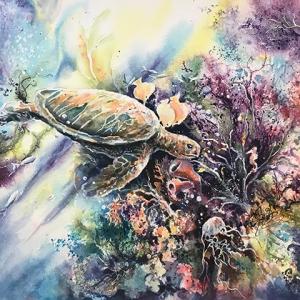 J. Schroeder_Rainbow Reef_Watercolor_$1350_300dpi