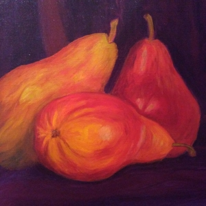 Dube, Diane_Red Pears_Oil