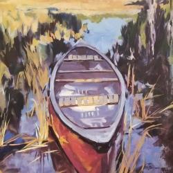 Sease, Murray_Red Canoe_Oil_$1540