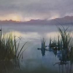 Zalapskaia, Titiana_Foggy Marsh_Oil_$187