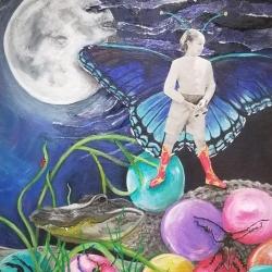 Warner, Sarah_Island Dreaming_Acrylic Collage_$375